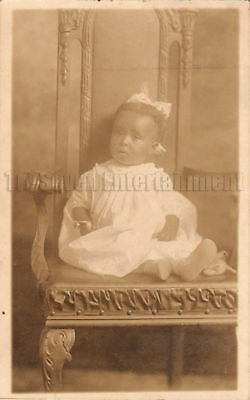 Antique African American Young Girl Real Photo Postcard RPPC Black Americana 03