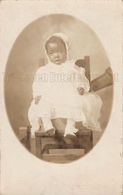Antique African American Young Girl Real Photo Postcard RPPC Black Americana 05
