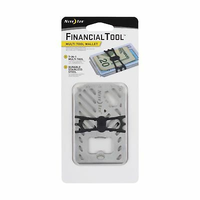 Nite Ize Financial Tool Stainless Credit Card Size 7-in-1 Multi Tool Lightweight