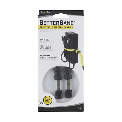 """Nite Ize BetterBand 5"""" Foliage Green 2-Pack Adjustable Stretch Bands Durable"""