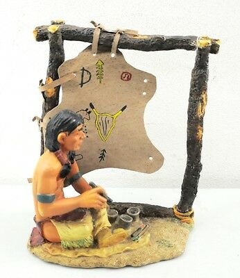 Vintage Native American Resin Statue Indian Painter