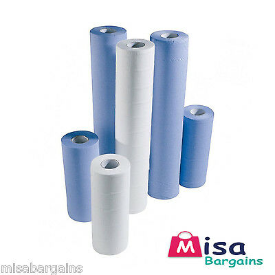 "24 x 10"" White Hygiene Couch Bed Paper Table Roll 2ply Tissue 40m/roll Salons"