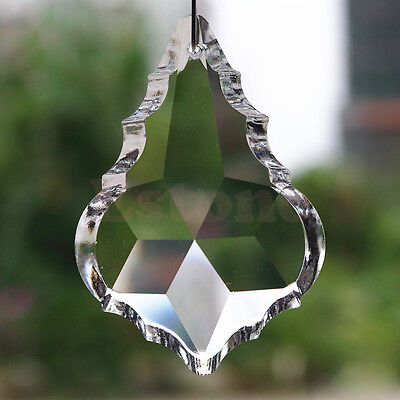 10x Crystal Chandelier Rainbow Prisms Hanging Drop Maple Leaf Decor Pendant 38mm