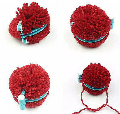 Strickring Set 8tlg. Strickrahmen Knitting Loom Strickliesel Haken Pompom Maker