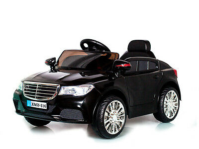 Black 12V C Class Saloon, Suspension, RC, Kids' Electric Ride On Car