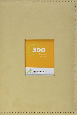 "Golden State Art Photo Album, Holds 300 4""x6"" pictures, 3 per page, Suede Cover,"
