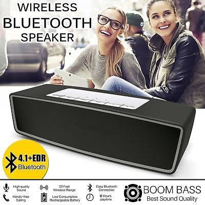 New Rechargeable Wireless Bluetooth Speaker Powerful Stereo Support TF + AUX USB