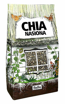 Chia Seeds Raw Whole - Detoxing Superfood BabaFood 500g