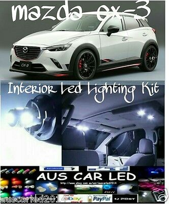 Mazda Cx-3 cx3 Bright White LED Interior Light bulb globe kit package