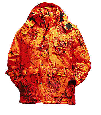 Gamehide Flatland Insulated Deer Hunting Parka  (Blaze Orange Camo) 92Z