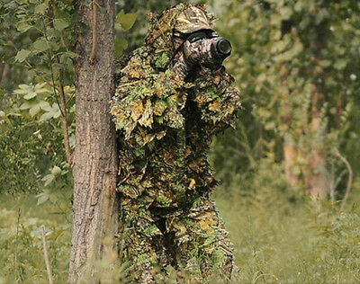 Camouflage Jungle Maple Camouflage Ghillie Suit Sniper Hunting Clothes / Jacket