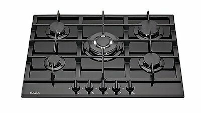 SAGA Teres P751-B 70cm Built-in 5 Burner Gas Hob/Cooktop with Tempered Glass