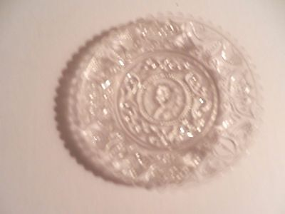 Boston and Sandwich Glass Company - Henry Clay Cup Plate - Circa 1844