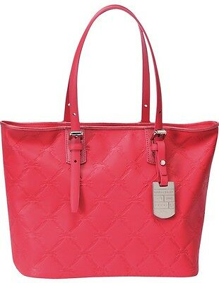 c71e2dbfc94 LONGCHAMP LM Cuir Large Tote Pink Rose Bag Leather Handbag Purse Logo NEW