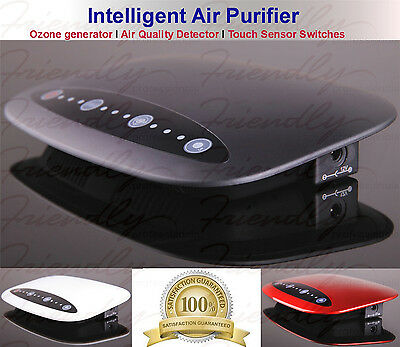 Ozone generator Air Purifier with Air Quality detector mold odor allergy control