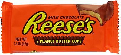 Reese's Milk Chocolate Peanut Butter Cups (42g) Free UK Deivery