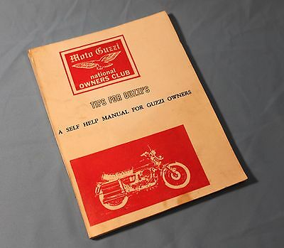 Vintage Moto Guzzi Tips For Guzzi's Self Help Manual By Harry Harnden 154 Pages