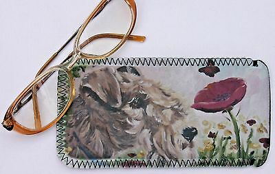 LAKELAND TERRIER DOG spectacle glasses pouch case Sandra Coen sublimation print