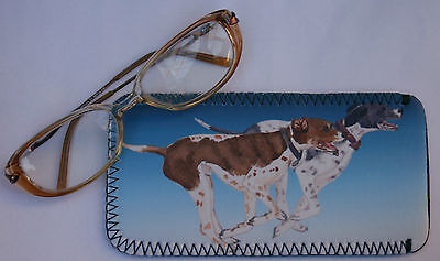 ENGLISH POINTER dog spectacle glasses case pouch Sandra Coen sublimation