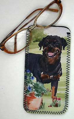 ROTTWEILER dog spectacle glasses pouch case Sandra Coen Sublimation printed