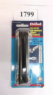 Eklind Fold Up Hex Key Set #21172 ***new*** Pic#1799
