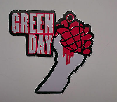 Great Looking Greenday Sticker Decal In Red &black  10Cm By 10 Cm Free Uk Post