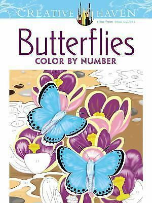 Adult Coloring: Creative Haven Butterflies Color by Number Coloring Book by...