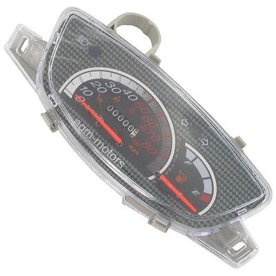 Tachometer 80Km/h Carbon Rex Rs460 / Boston 8 700343 Si Mde