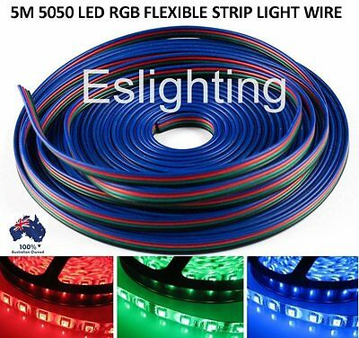 5M 4-Pin Rgb Led Strip Light Extension Connector Wire Cable Cord 5050 3528