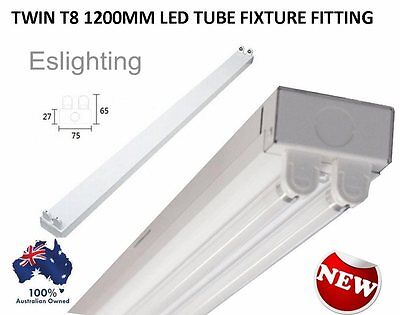 Twin 20W T8 Led Tube 1200Mm 4Ft + Fixture Fitting Batten Fluorescent Shop Light