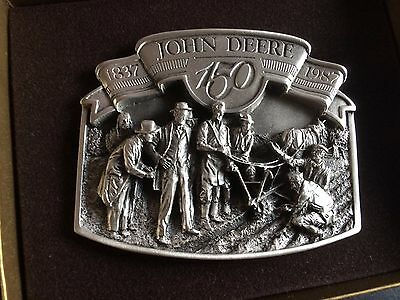 1987 John Deere 150 Years Pewter Belt Buckle