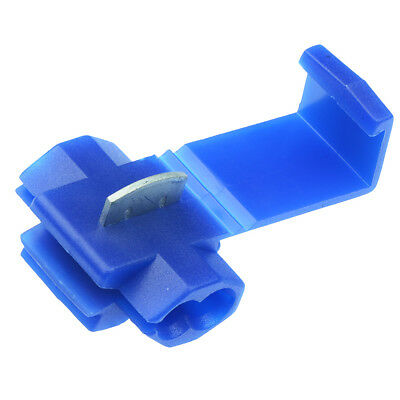 100 x Blue Scotch Lock Quick Splice Wire Crimp Connectors Electrical Terminal
