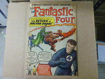 fANTASTIC FOUR # 10  STAN LEE KIRBY APPEARANCE