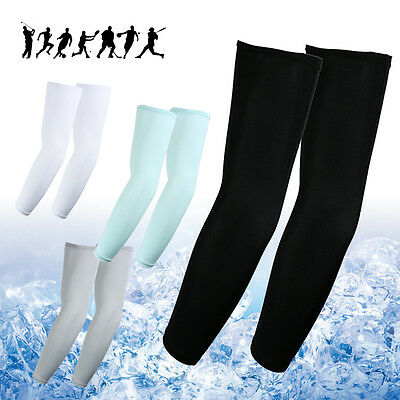 4pairs Sun UV Cooling Arm Sleeves Cycling Basketball Football Running Sports US
