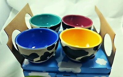 NEW!!  Ben and Jerry's set of 4 Cow ice Cream Dessert Bowls. Collectible