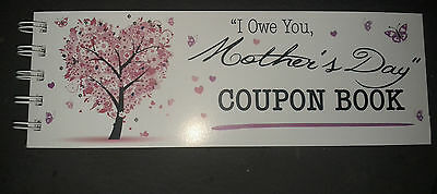 I Owe You, Mothers Day Coupon Book Pink Floral Tree~ Perfect Gift!