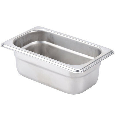"1/9 Size 2 1/2"" Deep Stainless Steel Silver Steam Table / Hotel Pans"
