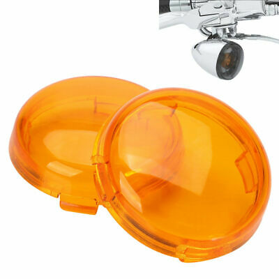 2x Turn Signals Light Amber Lens Cover For 1986-15 Harley Dyna Softail Sportster