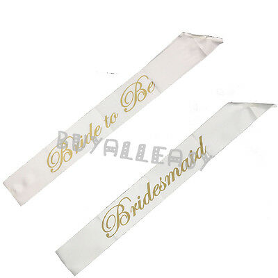 Girls Night Hen Party Accessories Sashes Wedding Ribbon Bride to Be Bridesmaid