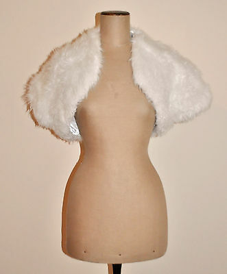 Vintage 60's Synthetic Fur Retro Evening Bolero/Shrug