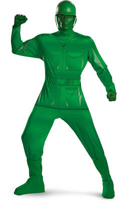Licensed Mens Disney Toy Story Green Army Man Fancy Dress Halloween Costume