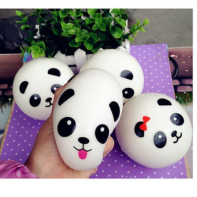 Panda Squishy Charms Kawaii Buns Bread Cell Phone Key/Bag Strap Pendant Squishes