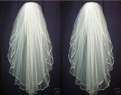 2017 New White or ivory Diamond wedding  Bridal Accessories Veil  Edge with comb