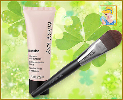 Mary Kay TimeWise Matte-Wear Foundation 11 colors +Liquid Foundation Brush