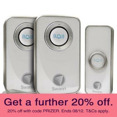 Swann SWHOM-DC820P2 Wireless Door Chime with AUST SWANN WARRANTY