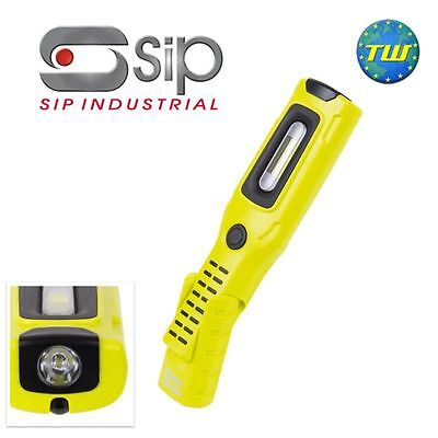 SIP 06490 HiVis LED COB Rechargeable Inspection Lamp Torch Light + Magnetic Base