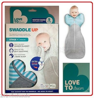 ❤ Love to Dream Swaddle Up WINTER WARM Cotton Bamboo 2.0 2.5 TOG Me Baby Zip ❤