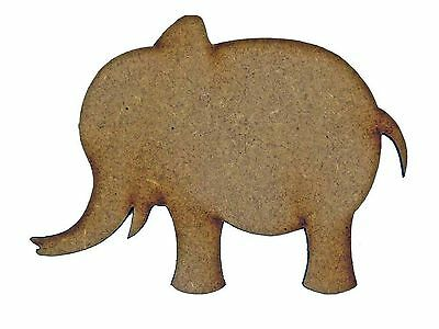 1 x MDF WOODEN ELEPHANT SHAPE LASER CUT WOOD CUTOUTS CRAFT DESIGN DECORATION