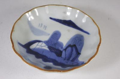Antique Chinese Qing Dynasty Blue And White Bowl Signed