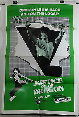 Justice Of The Dragon -Dragon Lee / Phoenix Kim- Original Usa 1Sht Movie Poster